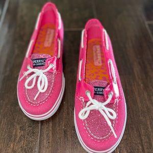 Pink Glitter Sperry's